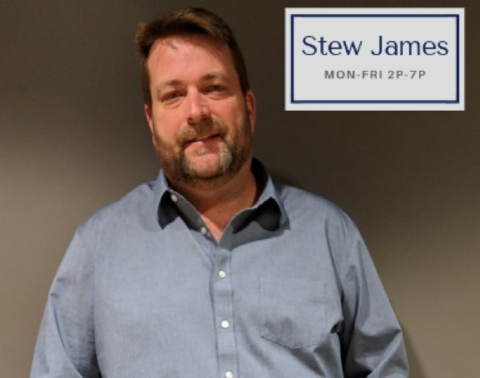 Image Title: Stew James  Weekdays 2PM - 7PM